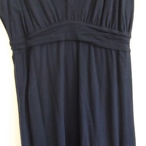 Casual navy jersey dress